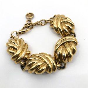 GIVENCHY Vintage Gold Tone Link Bracelet